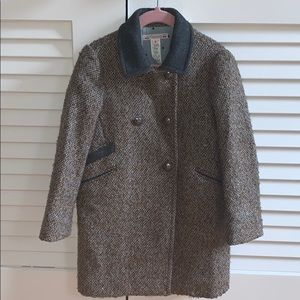 Bonpoint girl double-breasted wool coat